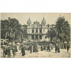 carte postale ancienne MONACO MONTE CARLO. Façade Casino 1908