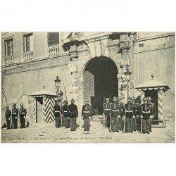 carte postale ancienne MONACO MONTE CARLO. Garde d'Honneur du Prince