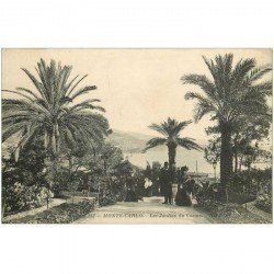 carte postale ancienne MONACO MONTE CARLO. Jardins du Casino 1913