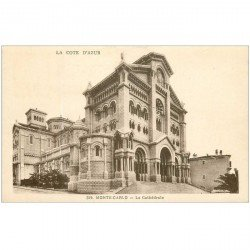 carte postale ancienne MONACO MONTE CARLO. La Cathédrale 1933