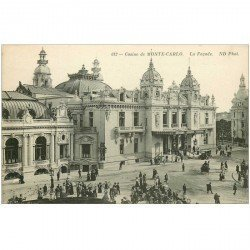 carte postale ancienne MONACO MONTE CARLO. La façade du Casino