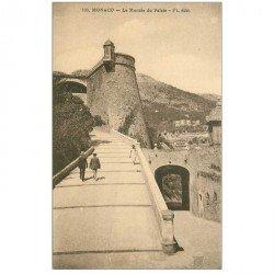 carte postale ancienne MONACO MONTE CARLO. La Montée du Palais