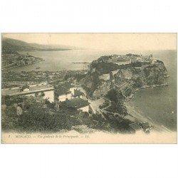 carte postale ancienne MONACO MONTE CARLO. La Principauté