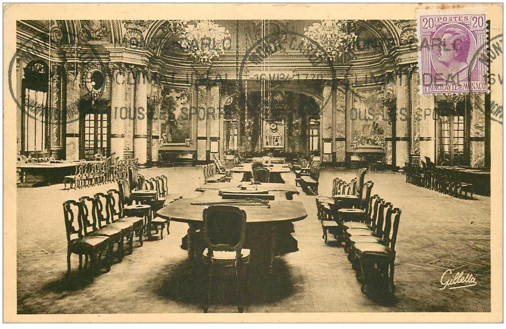 monaco monte carlo la roulette salle de jeux 1934. Black Bedroom Furniture Sets. Home Design Ideas