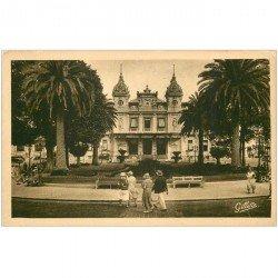 carte postale ancienne MONACO MONTE CARLO. Le Casino par Gilletta