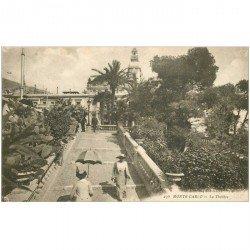 carte postale ancienne MONACO MONTE CARLO. Le Thétre