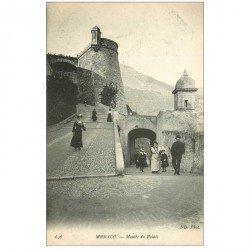 carte postale ancienne MONACO MONTE CARLO. Montée du Palais
