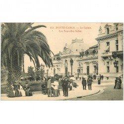 carte postale ancienne MONACO MONTE CARLO. Nouvelles Salles du Casino