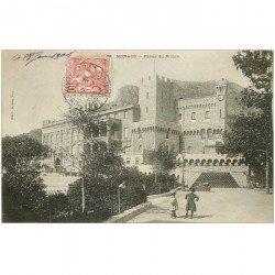 carte postale ancienne MONACO MONTE CARLO. Palais du Prince 1906 avec Enfants