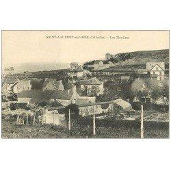 carte postale ancienne 14 SAINT-LAURENT. Les Moulins