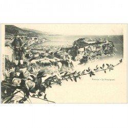carte postale ancienne MONACO MONTE CARLO. Principauté Berger et moutons vers 1900