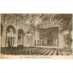 carte postale ancienne MONACO MONTE CARLO. Salle de Concert