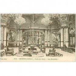 carte postale ancienne MONACO MONTE CARLO. Salle de Jeux la Roulette