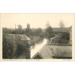carte postale ancienne 02 ORIGNY-STE-BENOITE. L'Oise vue du Moulin