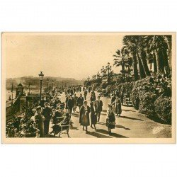 carte postale ancienne MONACO MONTE CARLO. Terrasses et Rocher