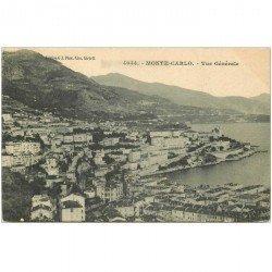 carte postale ancienne MONACO MONTE CARLO. Vue générale du Rocher