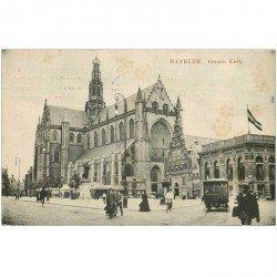 carte postale ancienne PAYS BAS HOLLANDE. Haarlem Groote Kerk 1912