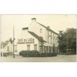 carte postale ancienne PAYS BAS. Purmerend. Café du Lac Jagerbier Roelants. Superbe Photo carte postale vierge vers 1900