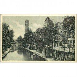 carte postale ancienne PAYS BAS. Utrecht. Oudegracht