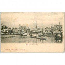 carte postale ancienne PAYS BAS. Zaandam Koogendjik vers 1900. Timbre manquant