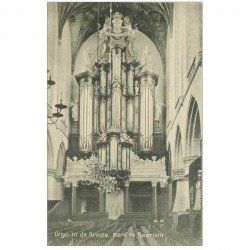 carte postale ancienne PAYS-BAS. Haarlem. Orgel in de Groote Kerk. Les Orgues de l'Eglise Orgue