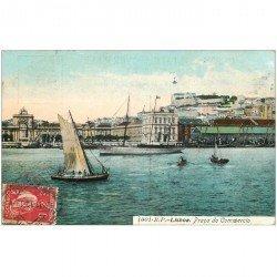 carte postale ancienne PORTUGAL. Lisbao Lisbonne 1919 Praça do Commercio