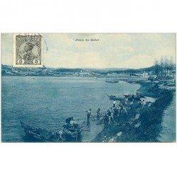 carte postale ancienne PORTUGAL. Pesca do Sabel1911. La Pêche au Filet de traîne. Pêcheurs et Poissons. Métiers de la Mer