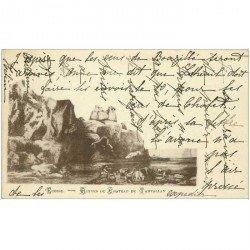 carte postale ancienne ANGLETERRE ENGLAND. Ecosse ruines du Chteau de Tamtallan 1902
