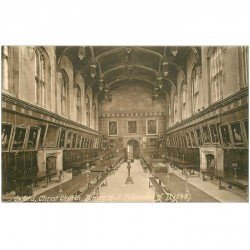 carte postale ancienne ANGLETERRE ENGLAND. Oxford Christ Church Dinning Hall 1945