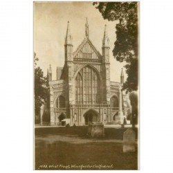 carte postale ancienne ANGLETERRE ENGLAND. West Front Winchester Cathedral