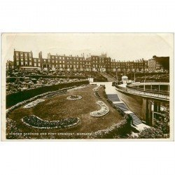 carte postale ancienne ANGLETERRE ENGLAND. Winter Gardens and Fort Crescent Margate 1929