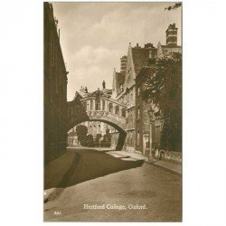 carte postale ancienne ANGLETERRE. Hertford College Oxford