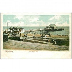 carte postale ancienne ANGLETERRE. Southsea. South Parade Pier