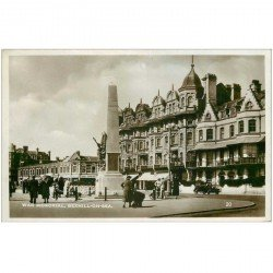 carte postale ancienne ANGLETERRE. War Memorial Bexhill on Sea. Carte photo