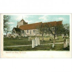 carte postale ancienne ENGLAND. Bexhill on Sea the Church