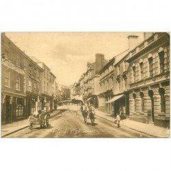 carte postale ancienne ENGLAND. Bideford Kigh Street ( carte décollée et timbre manquant )...