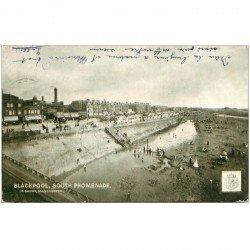 carte postale ancienne ENGLAND. Blackpool South Promenade 1903 timbre taxe