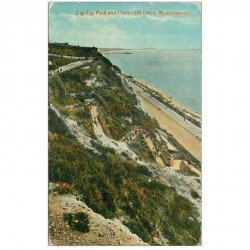 carte postale ancienne ENGLAND. Bournemouth Zig Zag Path and Undercliff Drive