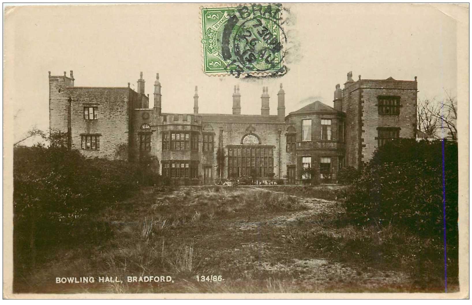 carte postale ancienne ENGLAND. Bradford Bowling Hall 1919