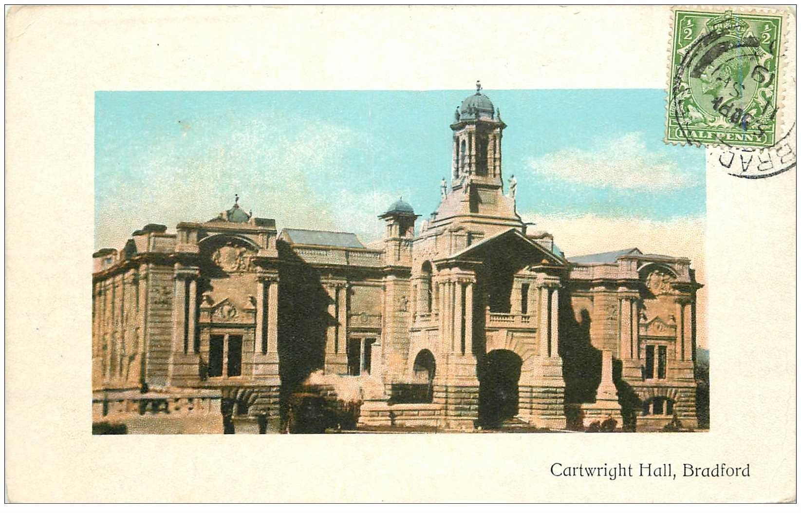 carte postale ancienne ENGLAND. Bradford Cartwright Hall 1919