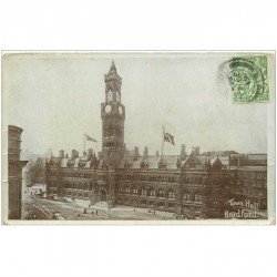carte postale ancienne ENGLAND. Bradford Town Hall 1919