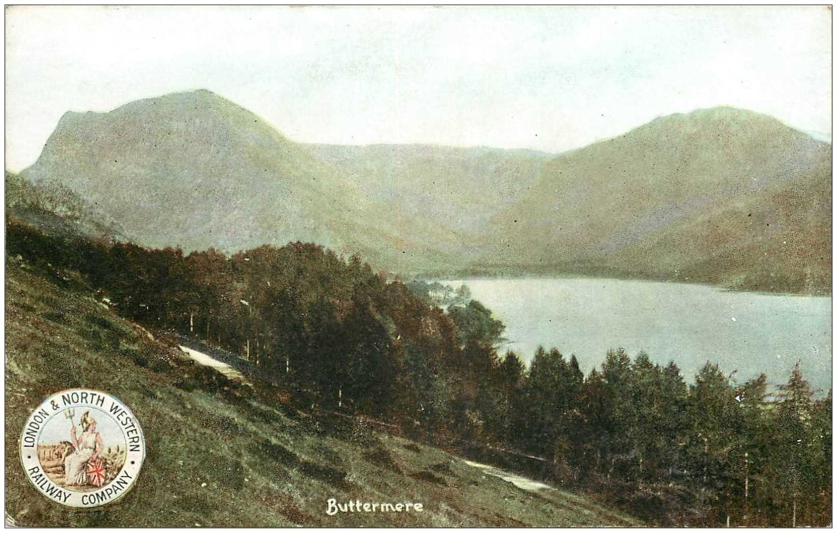 carte postale ancienne ENGLAND. Buttermere
