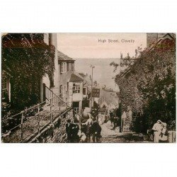 carte postale ancienne ENGLAND. Clovelly High Street