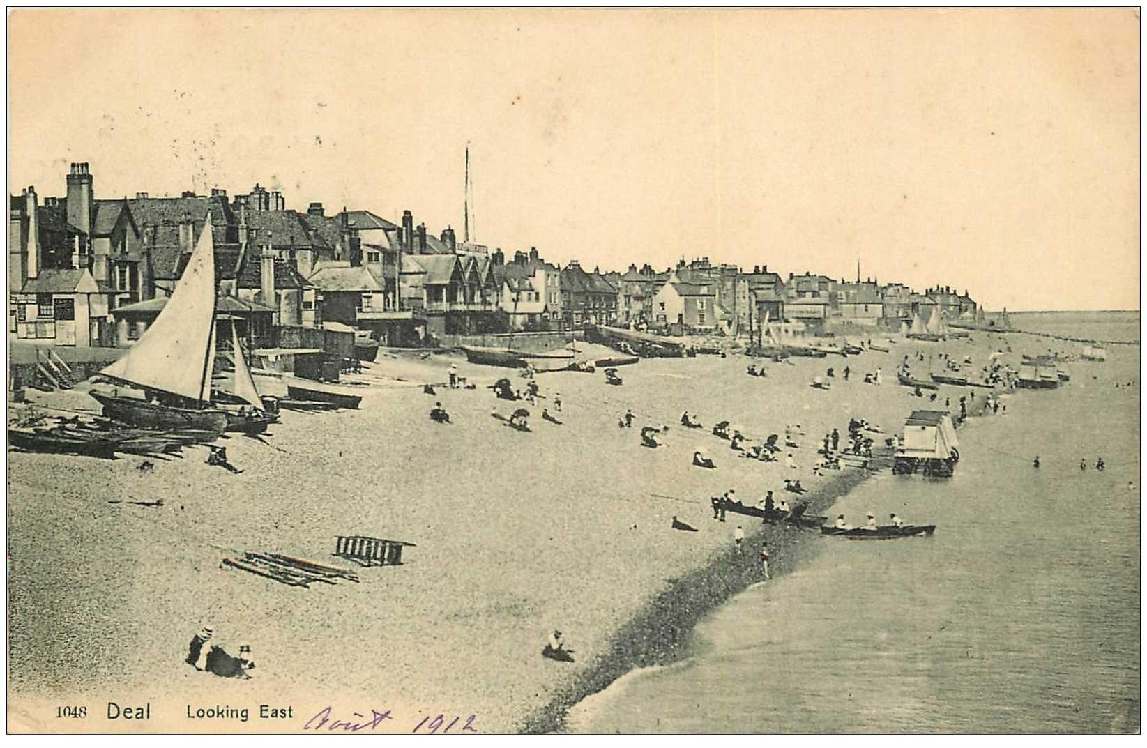 carte postale ancienne ENGLAND. Deal Looking East 1912