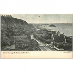 carte postale ancienne ENGLAND. Folkestone Lower Sandgate Road