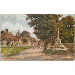 carte postale ancienne ENGLAND. Garsington Village Cross