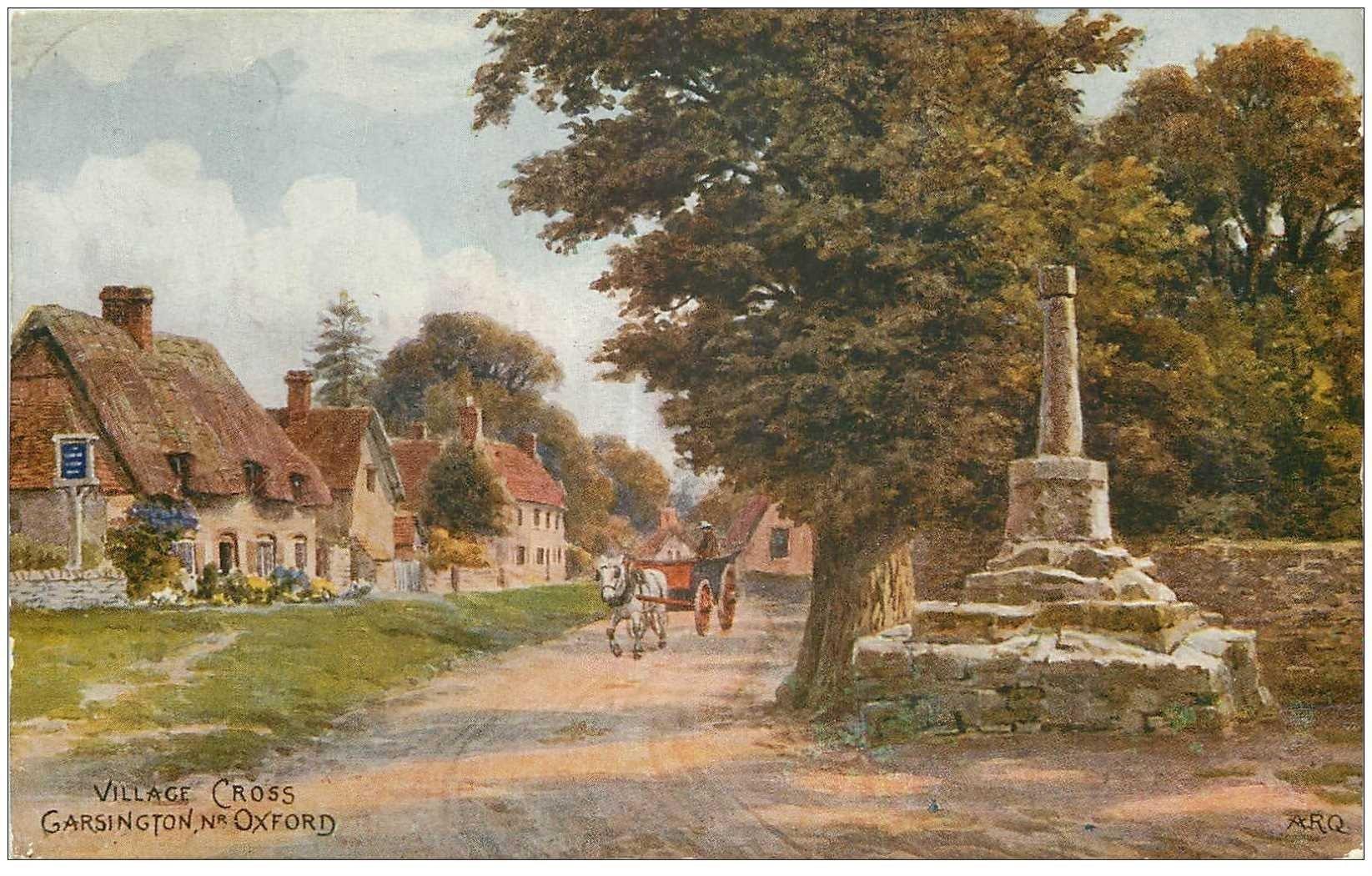 carte postale ancienne ENGLAND. Garsington Village Cross