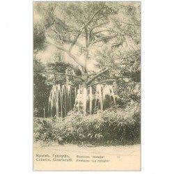 carte postale ancienne CRIMEE. Goursouff Fontaine La Nymphe vers 1900