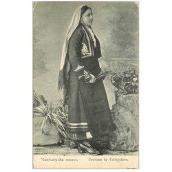 carte postale ancienne RUSSIE. Costume de Tchepelare. Carte postale ancienne