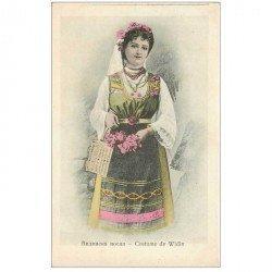 carte postale ancienne RUSSIE. Costume de Widin. Carte postale ancienne